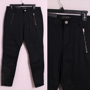 NWT Banana Republic Black Moto Skinny Jeans 10